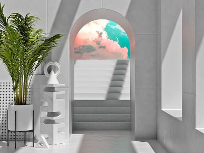 Doorway spaces rendered interior architecture focus lab 3d