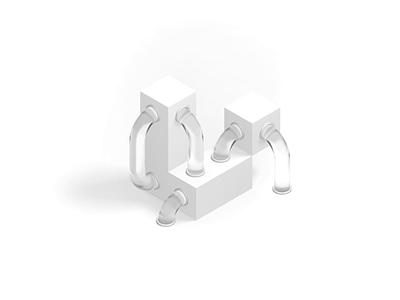 Tube Animation site animation glass render 3d illustration logo branding website focus lab