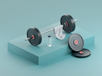 Push Weight otoy octane cinema4d maxon render illustration 3d focus lab