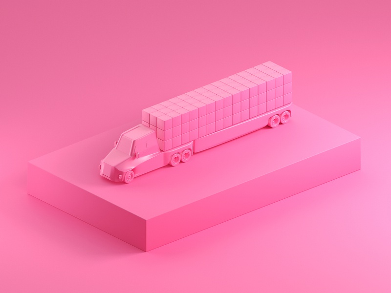 Truck it. studio truck 3d models c4d cinema4d octane cgi 3d model render 3d illustration focus lab