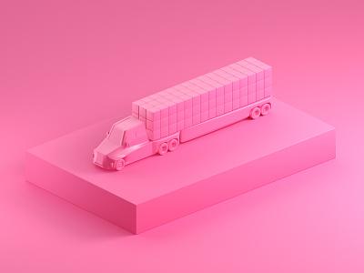 Truck it. studio truck 3d models c4d cinema4d octane cgi 3d model render 3d illustration focus lab