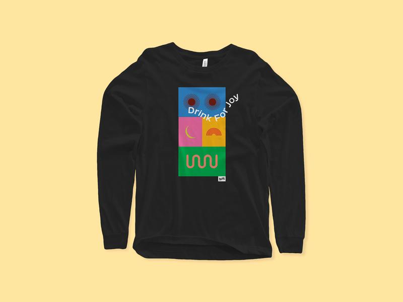 For Joy 001 joy apparel clothing wear street mockup shirt logo branding typography illustration focus lab