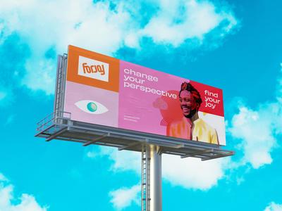 For Joy Billboard logo signage branding mockup focus lab billboard