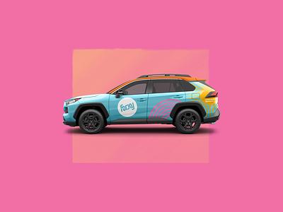Wrap for joy logo branding focus lab vinyl toyota vehicle car wrap