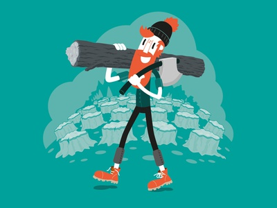 I'm a Lumberjack and its okay... adobe photoshop adobe illustrator vector illustration