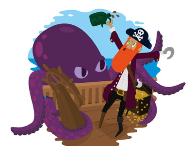 """Save the rum!"" vector illustration adobe photoshop adobe illustrator"