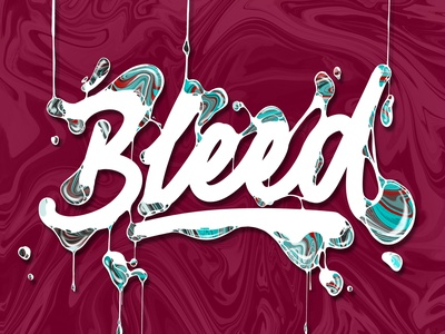 Bleed lettering (vid) illustration procreate color angeloknf inspiration script logo type calligraphy typography lettering