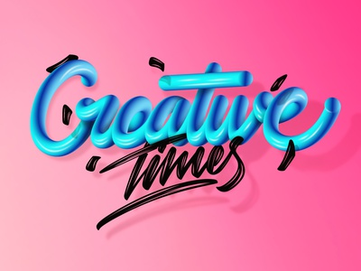 Creative times (Video link in bio) branding type angeloknf inspiration script adobe photoshop illustrator 3d calligraphy typography lettering