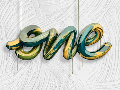 One ☝️ (Video on description) branding logo type 3d art angeloknf inspiration calligraphy 3d type 3d design 3d cinema4d typography lettering