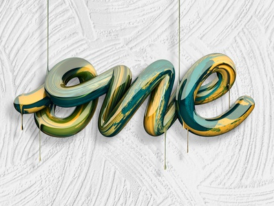One ☝️ (Video on description) branding logo type 3d art angeloknf inspiration calligraphy 3d type 3d design 3d cinema4d typography lettering