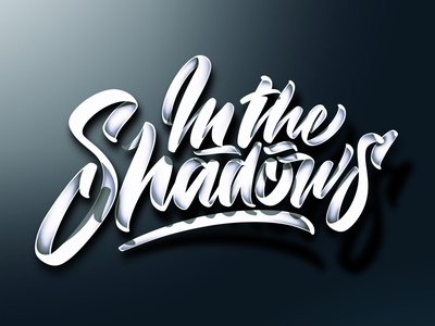Shadows (video link in description) light details script shadows branding photoshop angeloknf hand-lettering brush logo type calligraphy typography lettering