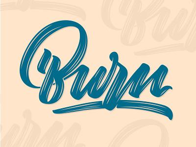 Burn lettering (video link in description) font design adobe ipad illustrator angeloknf inspiration logo calligraphy type typography lettering