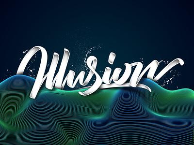 Illusion (Tutorial in description) tutorial illustrator design branding angeloknf inspiration logo calligraphy type typography lettering