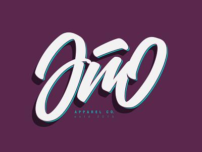 Año Apparel (Video on description) handmade color blue green purple apparel tutorial illustrator angeloknf inspiration logo calligraphy type typography lettering