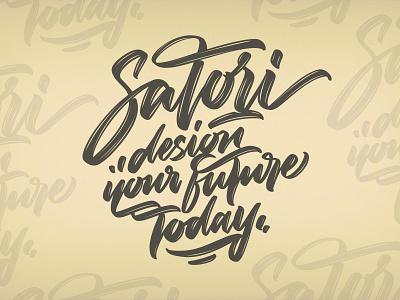 Calligraphy design (Tutorial on description) satori procreate illustrator branding angeloknf inspiration script logo calligraphy type typography lettering