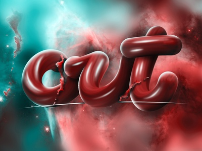 Photoshop 3D lettering (Tutorial on description) tutorial pen tool highlights reflections shadows space 3d design red branding design 3d photoshop angeloknf inspiration brush logo calligraphy type typography lettering