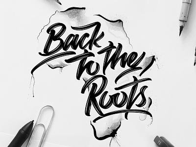 Back to the roots (Video link in description) monoline type design ipadpro ipad procreate illustrator blackandwhite typography logo font design font angeloknf inspiration hand-lettering script brush logo calligraphy type typography lettering