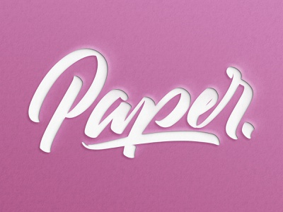 Paper text effect - Tutorial video font design 3d branding paper hand lettering tutorial photoshop handlettering color angeloknf inspiration script hand-lettering brush logo type calligraphy typography lettering