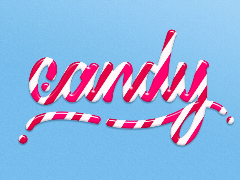 Candy lettering - Tutorial branding cursive stripes pink candy design handlettering illustration angeloknf font inspiration script hand-lettering logo calligraphy typography type tutorial photoshop lettering