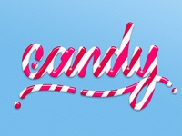 Candy lettering - Tutorial