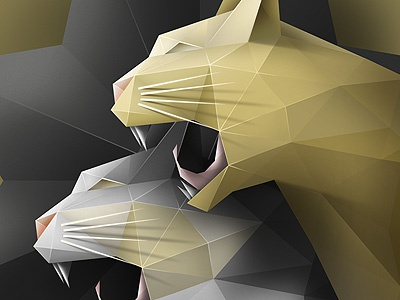 Geometric Cats illustration drawing sketch pencil cat poster animal art