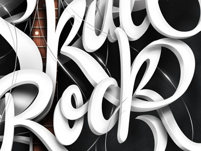 The Skull of Rock! typography illustration drawing lettering type design texture
