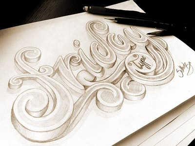 Friday Type - Project friday type typography pencil pencils sketch illustration tgif