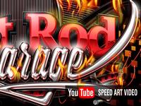 HotRod Illustration - PSD speed art video