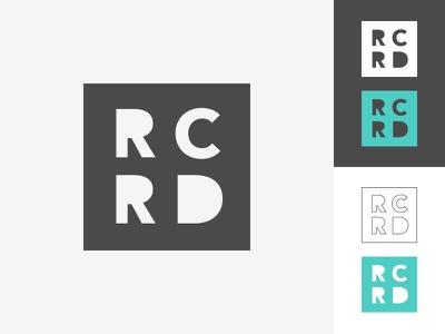 RCRD logo designer developer personal brand logo