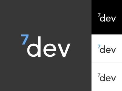 7Dev Logo code studio developer business logo
