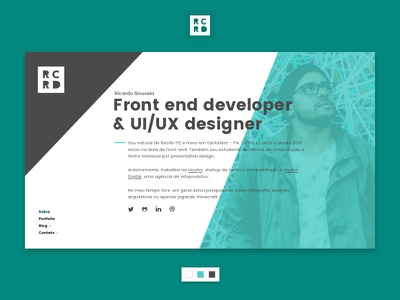My personal page homepage personal page portfolio ui ui design user interface