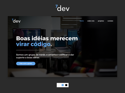 7Dev Webpage group dev developer homepage business page portfolio ui ui design user interface