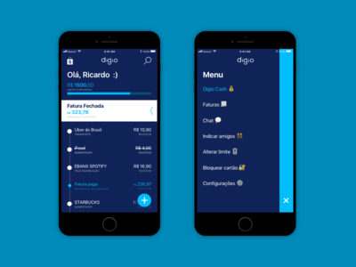 Digio app redesign redesign app credit card fintech digio