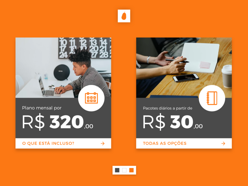 Cards for coworking plans site design price card web design