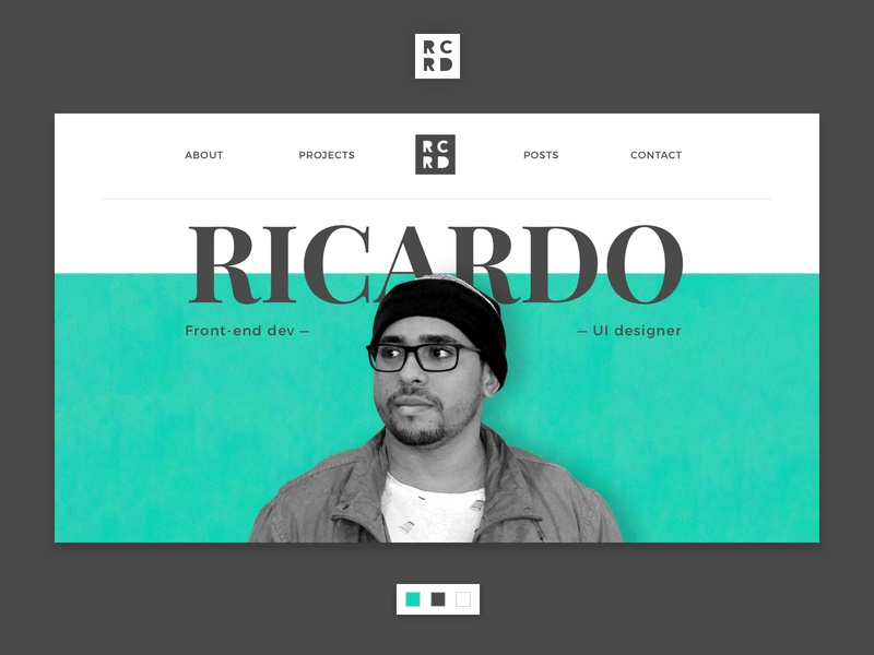 RCRD Portfolio 4.0 logo design brazil user interface ui design portfolio homepage dev ui developer