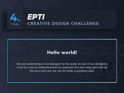 EPTI Creative Design Challenge - Week 04 challenge epti