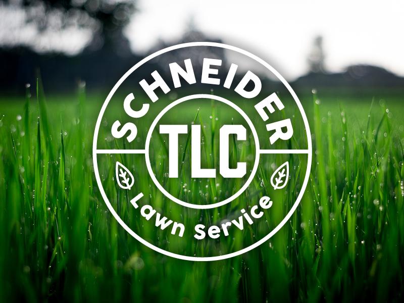 Schneider Lawn Service kansas wichita identity brand logo green services care yard grass lawn