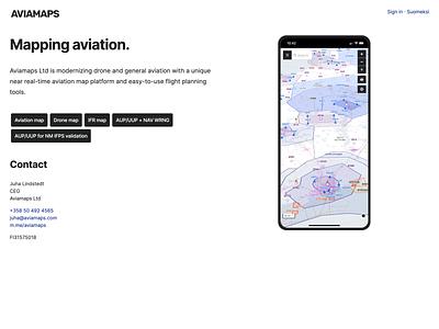 Aviamaps website branding screenshot website aviation