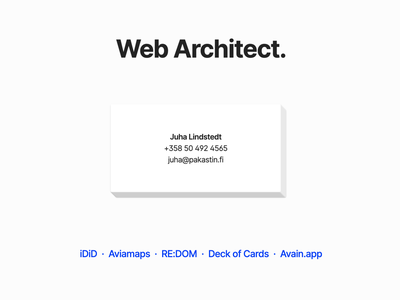 Web Architect. playing cards flat design game javascript website