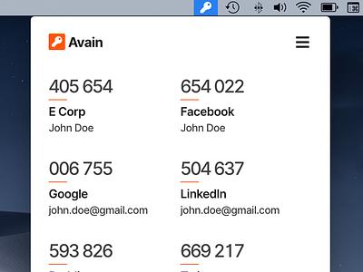 Avain for Desktop design ui logo authentication javascript flat