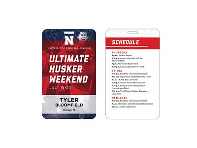 UNL Name Badges event badge id badge id name tag lanyard name badge nebraska unl university college collegiate