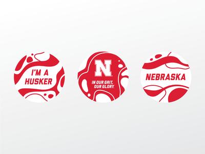 UNL Sticker Set