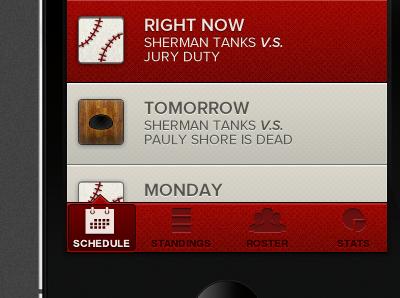Team Mate Mobile Activity Stream stream iphone ios ui user interface red