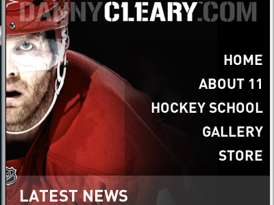 Responsive Dannycleary.com mobile hockey detroit web responsive design development css3