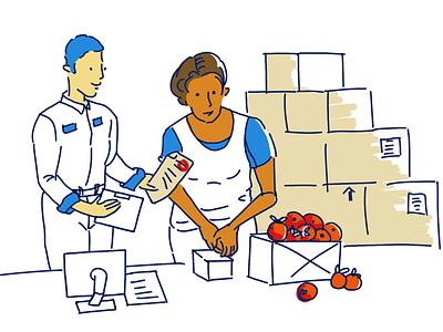 Warehouse illustration illustration warehouse
