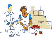 Warehouse illustration