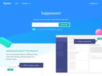 Support website concept