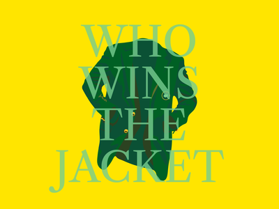 Who takes home the jacket? golf sports illustration