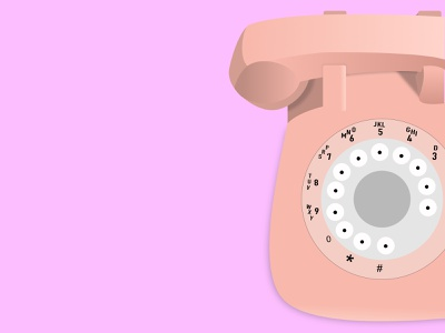Vintage Telephone Illustration pink telephone vectorart vectors art vectors vector illustration art illustrations illustration
