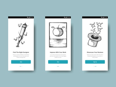 Design App Onboarding icon hand drawn onboarding ui design illustration ui ux design